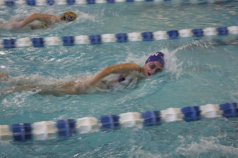 Senior Swims to Success