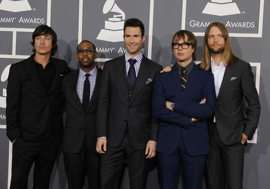 Maroon 5 at the 54th Annual Grammy Awards at the Staples Center in Los Angeles, California, on Sunday, February 12, 2012.