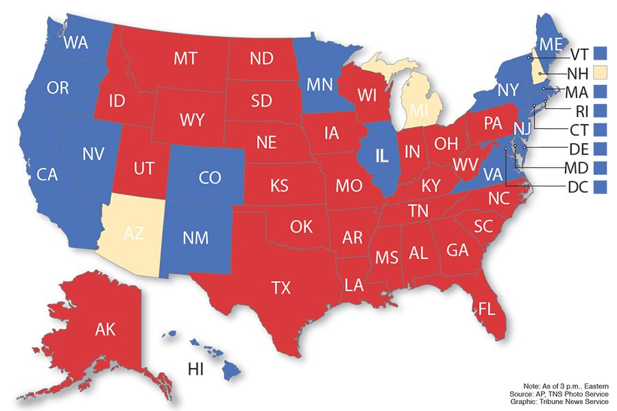 Presidential election results map.