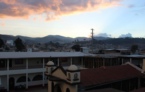 The view from the rooftop of the convent where students stayed.