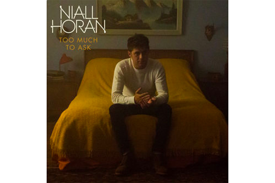 Niall Horan is pictured sitting on furniture in his new album cover for his single