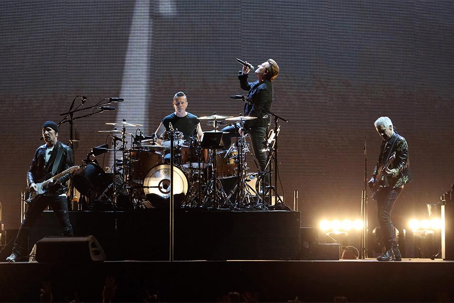 Bono and U2 perform on Saturday, June 3, 2017 at Soldier Field in Chicago, Ill.  (Nuccio DiNuzzo/Chicago Tribune/TNS)