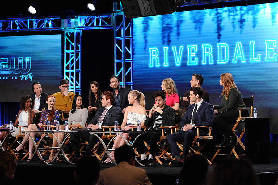 The+cast+and+executive+producers+of+%22Riverdale%22+speak+at+a+panel+at+the+CW+2017+winter+TCA+Tour.