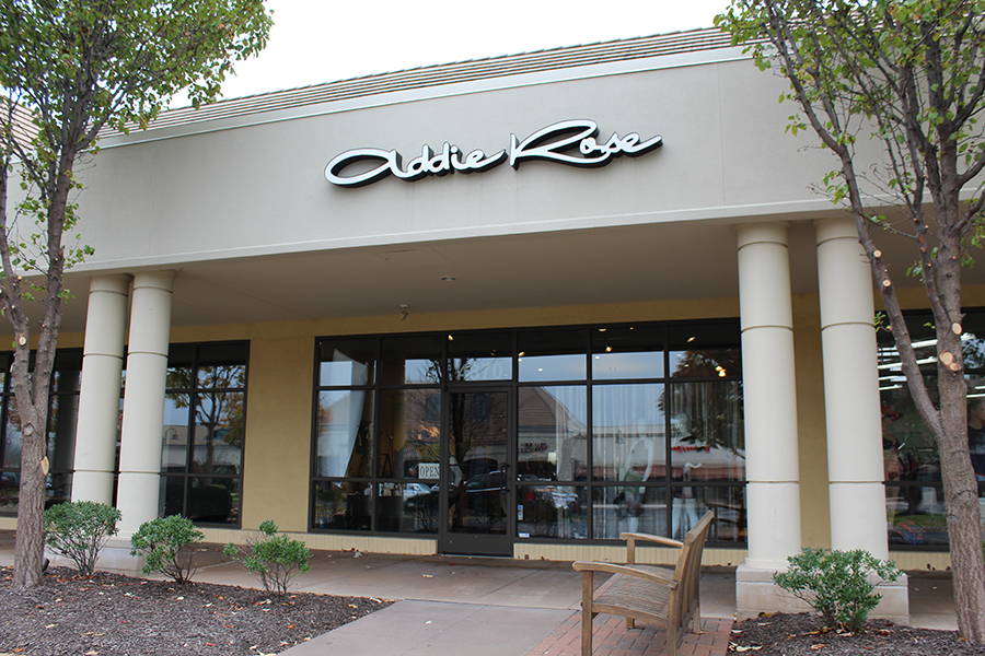 The Addie Rose boutique is located 4870 W 135th St, Leawood, KS 66224.