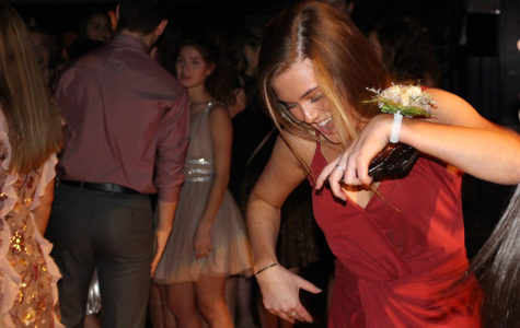 Junior Keali Myrick shows off her best moves at the winter formal Dec. 2.