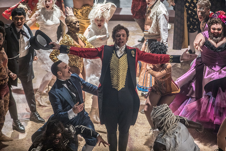 "Hugh Jackman in the film, ""The Greatest Showman."""