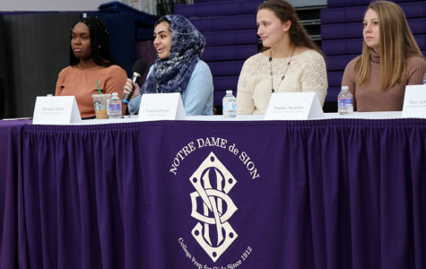 Alumnae Return for Luncheon and Discussion