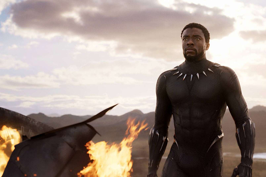 "Chadwick Boseman stars as the black panther in marvel studio's ""Black Panther."