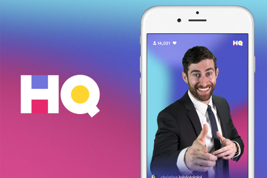The HQ trivia app, typically hosted by Scott Rogowsky, is a live game show where people must answer 12 consecutive questions correctly to win the cash prize.