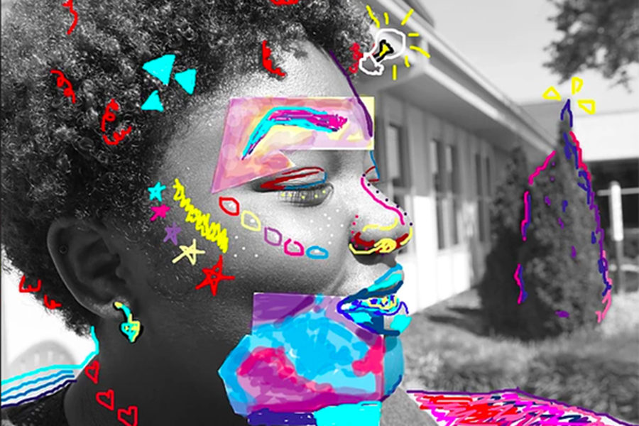 Along with expressing emotions through poetry junior Tempest Malone uses the online arts publication The Siren to pursue art as another passion.