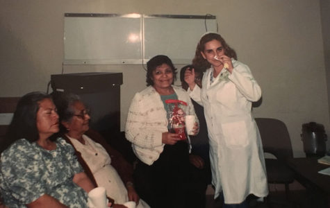 Spanish teacher Alicia Gomez as a young doctor in Mexico.