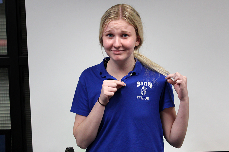 Senior Anna Tomka struggles to finish the school year strong knowing she is headed to Creighton University in the fall.
