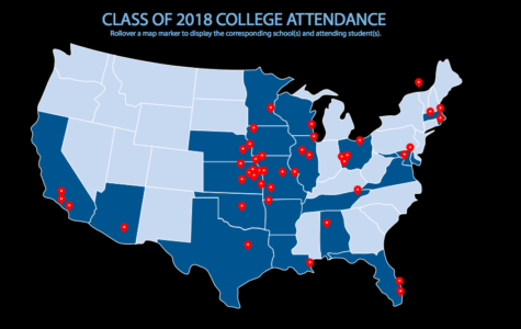 Class of 2018 Interactive College Map