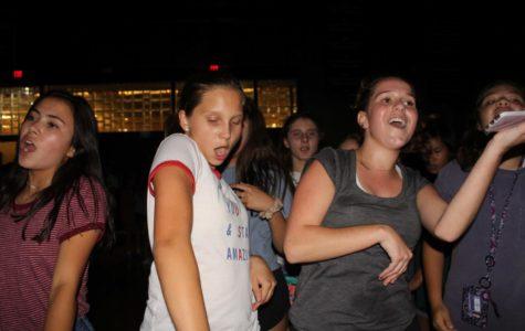 Freshmen Sofia Aguayo, Anna Baklanov and Chloe Angrisano dance to 'In My Feelings.'