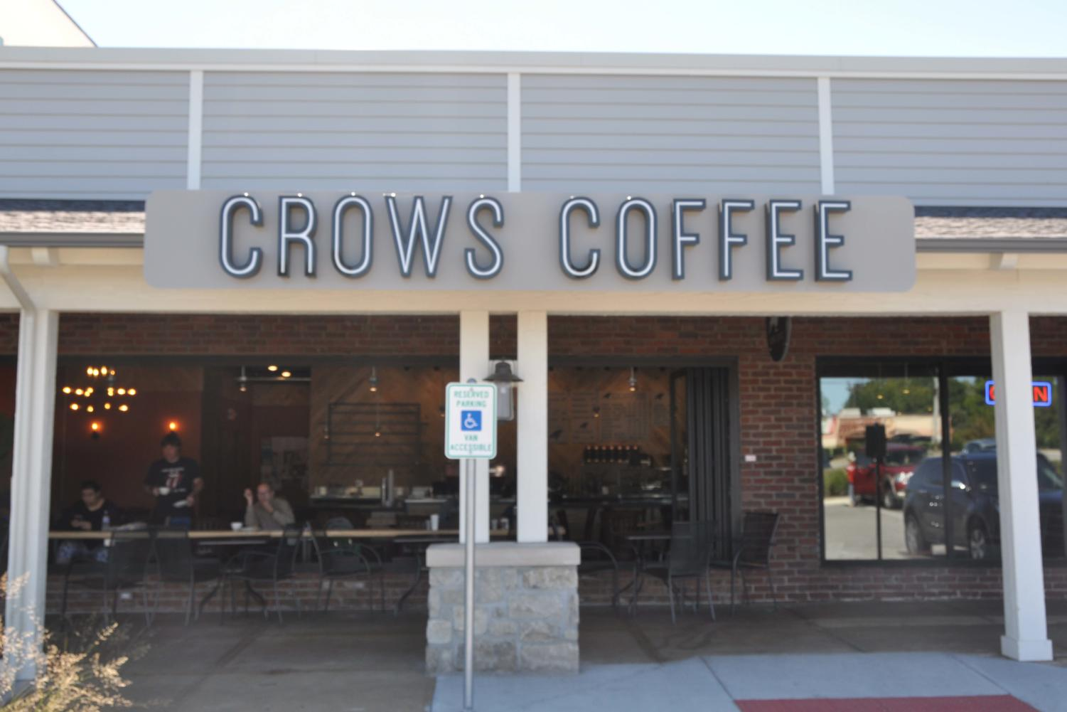 Crow's Coffee's newest location is only three minutes from campus, making it one of the closest coffee shops to school.