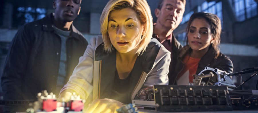 Jodie+Whittaker+playing+the+first+ever+female+Doctor+and+3+her+companions+during+the+season+11+premiere+of+%22Doctor+Who%22+aired+Oct.+7.+%28Photo+by+MCT+Campus%29