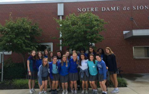 Blue Shirts Worn in Honor of Rockhurst Senior