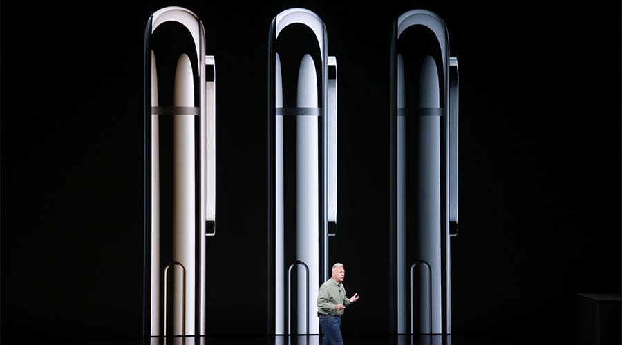 Apple's senior vice president of worldwide marketing Phil Schiller introduces the company's newest smartphone, the iPhone Xs, Wednesday, Sept. 12, at company headquarters.