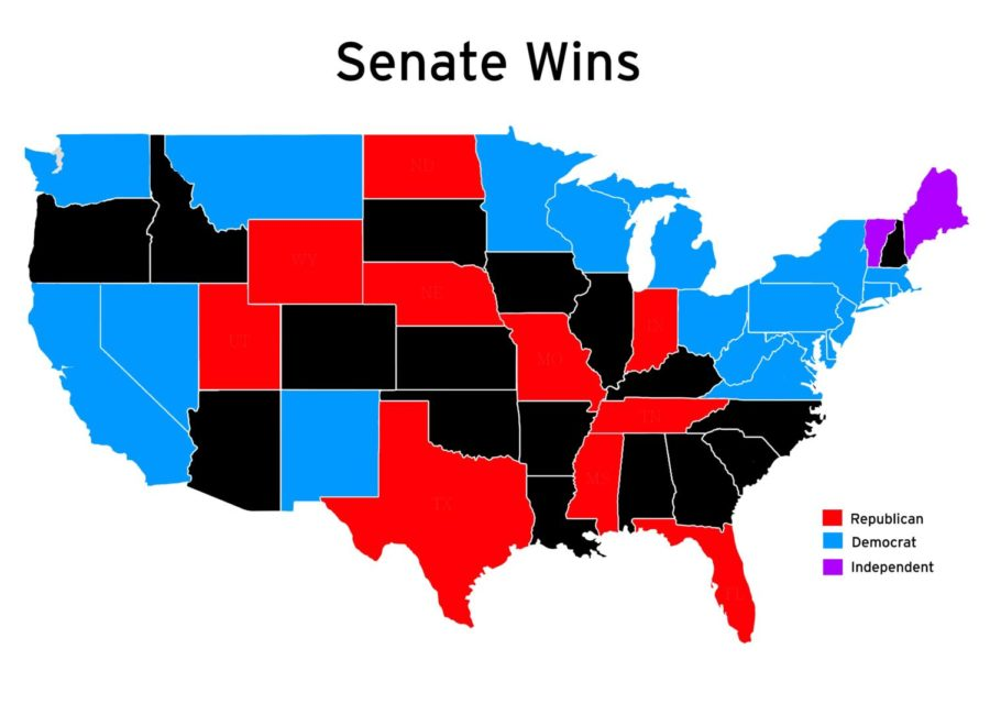The 2018 Senate elections ended with Republicans controlling the Senate. (Vector from Vecteezy)