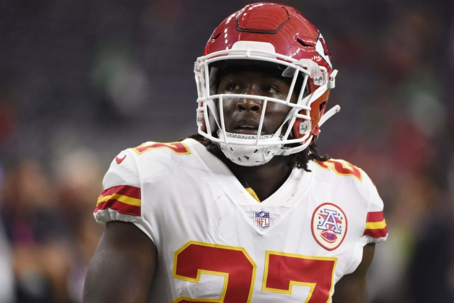 Kareem+Hunt+was+released+from+the+Chiefs+after+a+video+was+released+of+him+assaulting+a+woman+Nov.+30.+