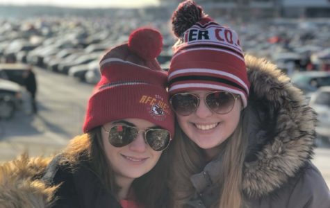 Print co-editor-in-chief Cecilia Mohasci and senior Victoria Farrington before the AFC Championship game Jan. 20, where the Chiefs fell to the Patriots in overtime.