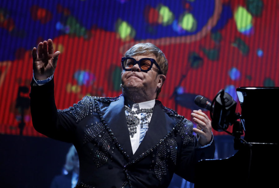 Elton John preforms at Staples Center in Los Angeles Tuesday night, Jan. 22, 2018. (Luis Sinco/Los Angeles Times/TNS)