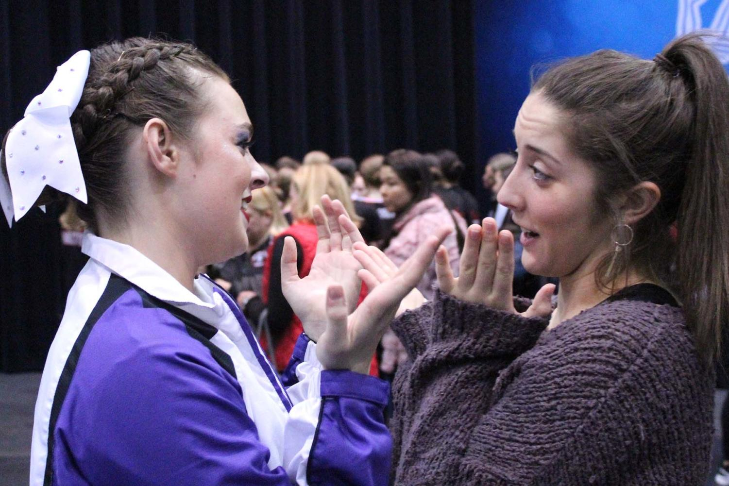 Senior Chandler Rawson and alum and former Captain Mary Evans discuss the performance after the competition.