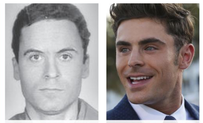 Actor+Zac+Efron+%28right%29+will+be+portraying+serial+killer+Ted+Bundy+%28left%29+in+the+upcoming+movie+%E2%80%9CExtremely+Wicked%2C+Shockingly+Evil+and+Vile.%E2%80%9D