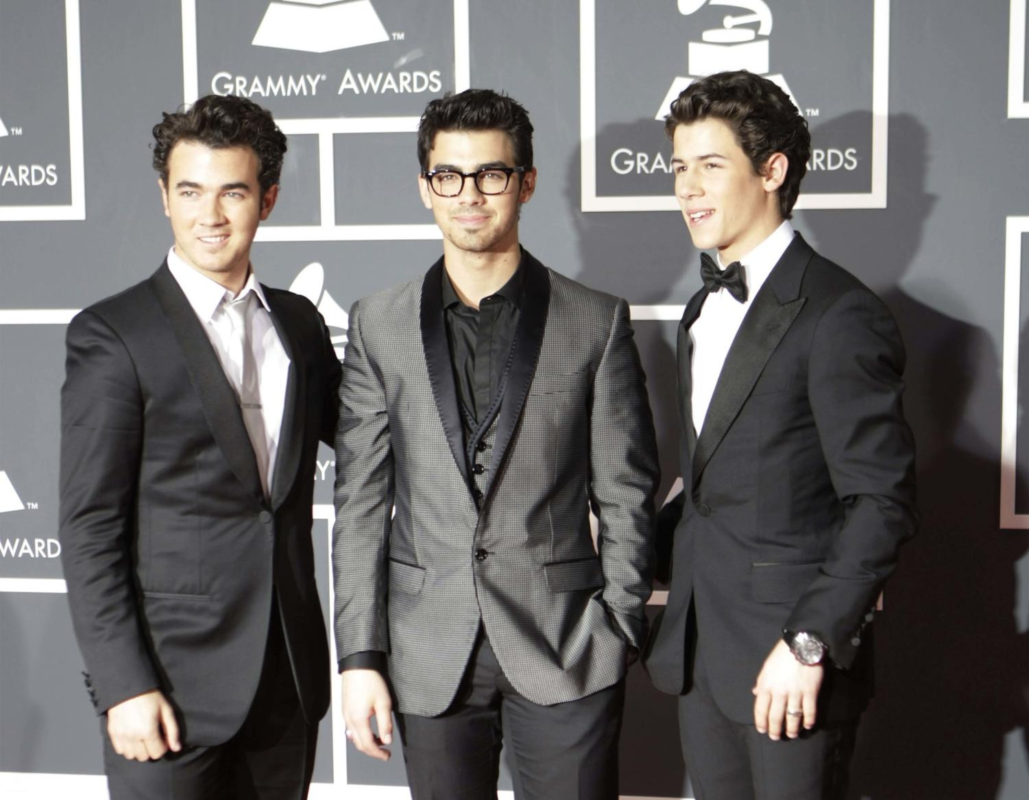 The Jonas Brothers arrive at the 52nd Annual Grammy Awards at the Staples Center in Los Angeles, on Jan. 31, 2010. (Jay L. Clendenin/Los Angeles Times/MCT)