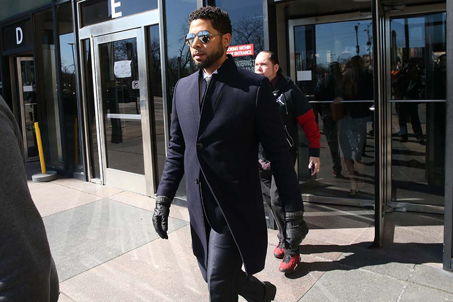 Actor Jussie Smollett leaves the Leighton Criminal Court building after all charges were dropped in his disorderly conduct case on Tuesday, March 26, 2019. (Antonio Perez/Chicago Tribune/TNS)