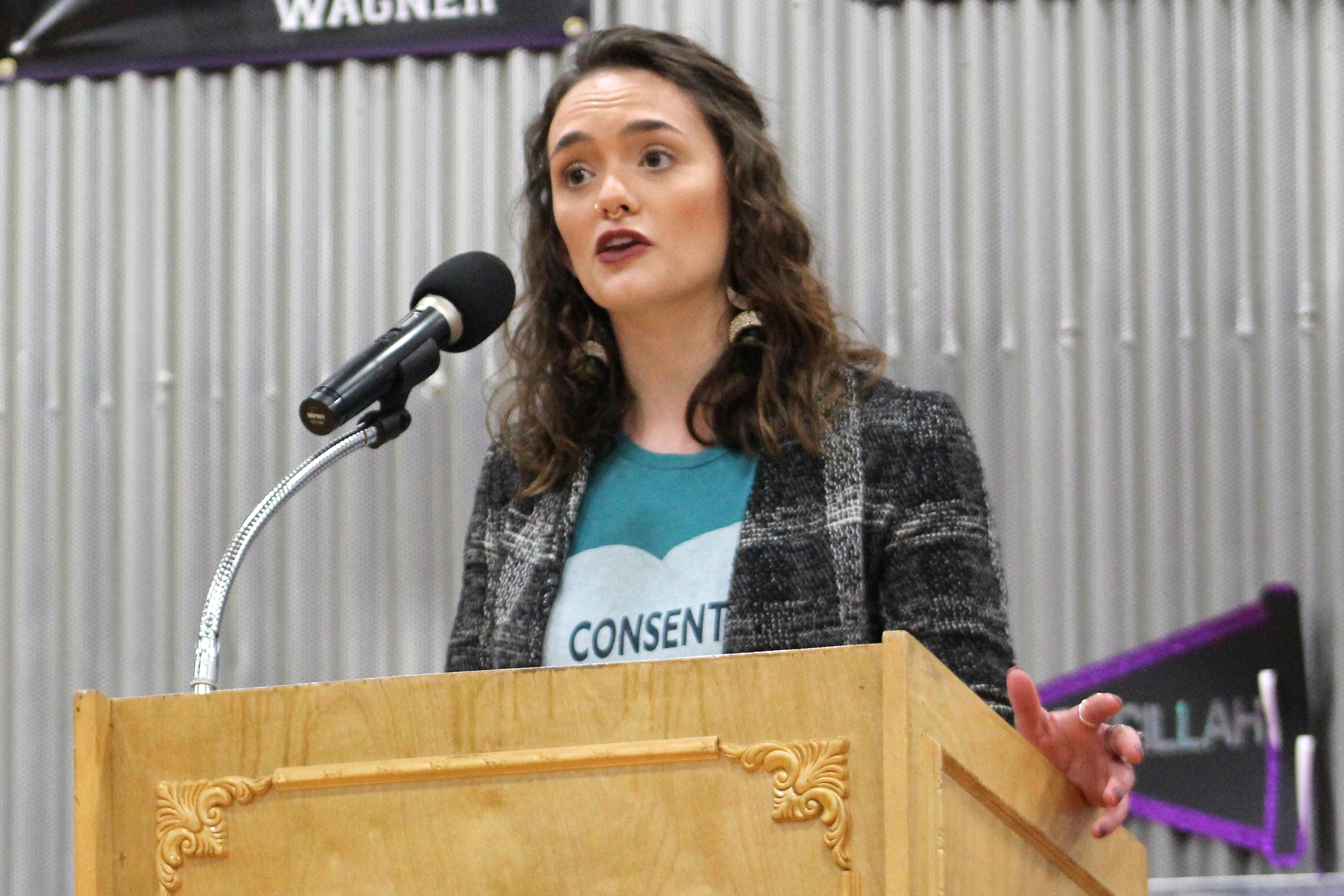 Audrey Yazell from MOCSA explains Title IX regulations as a part of Sexual Assault Awareness Month March 28.