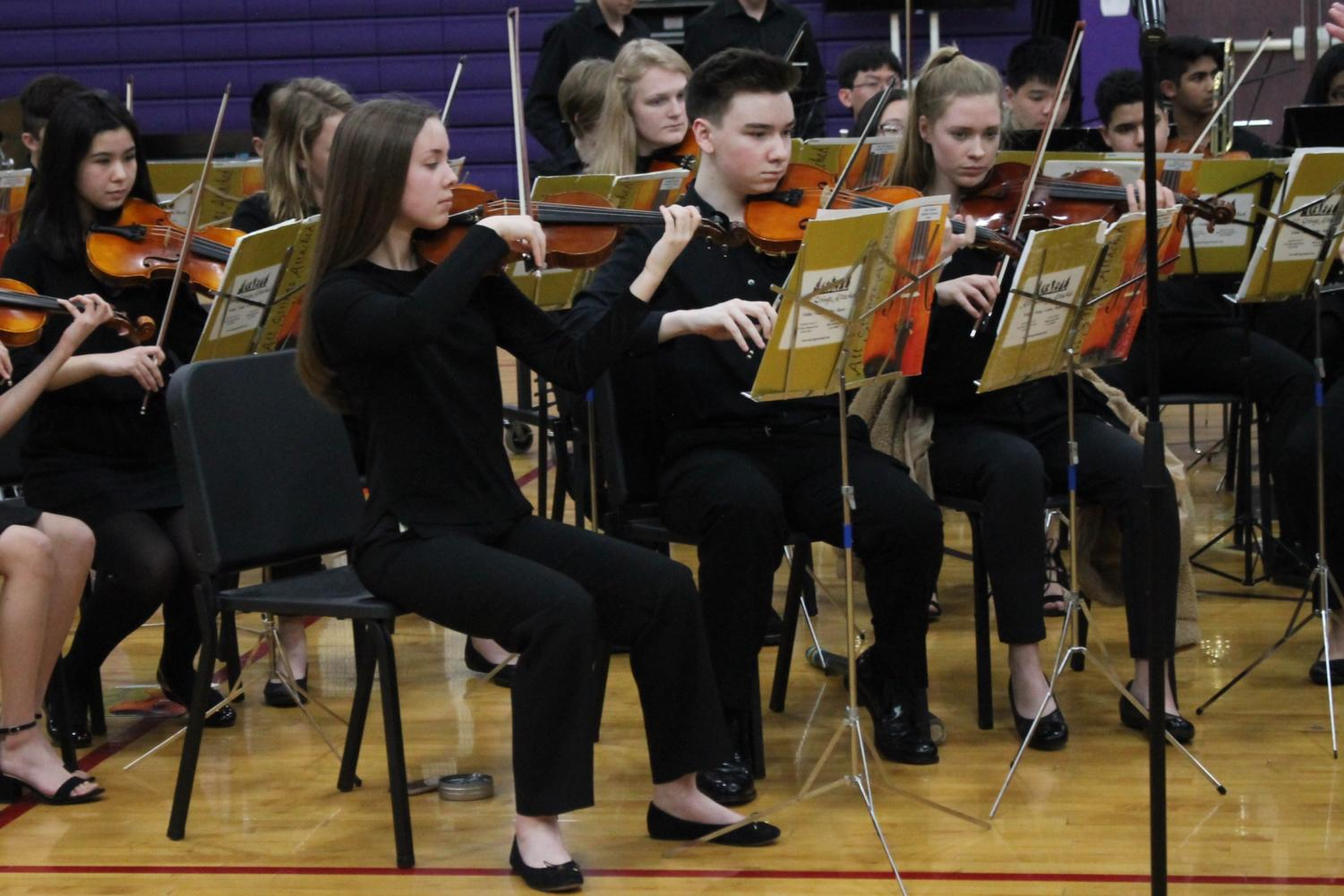 Students from The Blake School's Instrumental Program performed in the gym April 5.