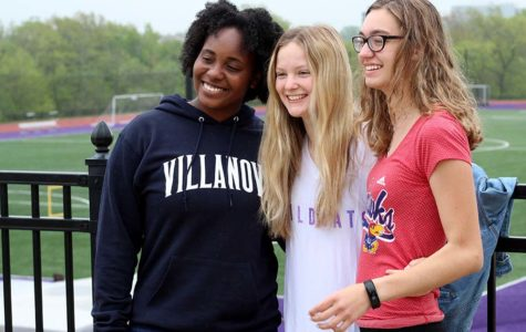 Looking ahead to college this upcoming fall, senior Kendall Rogers will attend Villanova University, senior Sophie Hewitt will attend Kansas State University and senior Brenna Richart will attend the University of Kansas.