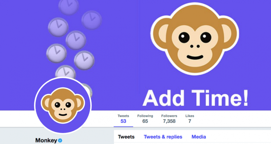 A screenshot from the Monkey twitter page.