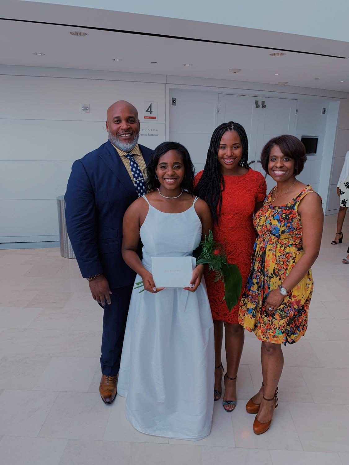 My father Robert Rogers, my sister Kendall Rogers, my mother Doris Rogers and I at Kendall's graduation ceremony at the Kauffman Center of Performing Arts May 23.