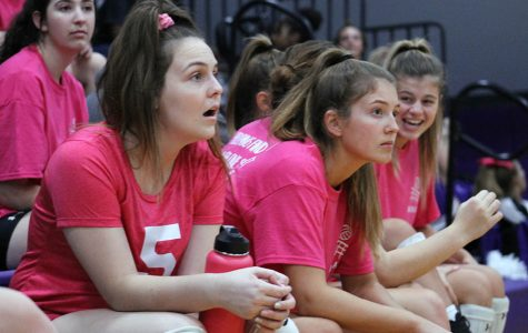 Volleyball Plays in Dig Pink Game