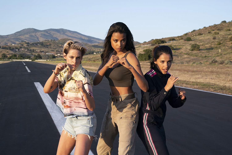 """Kristen Stewart, Naomi Scott and Ella Balinska make up the """"angels"""" in the new"""