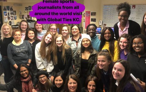 Sports journalists from around the world visited the school's newspaper staff with Global Ties KC through the International Visitors Leadership Program Nov. 11.