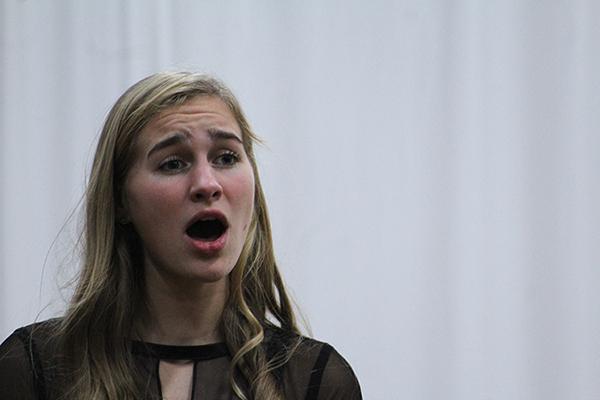 Sophomore Veda Renzulli performs