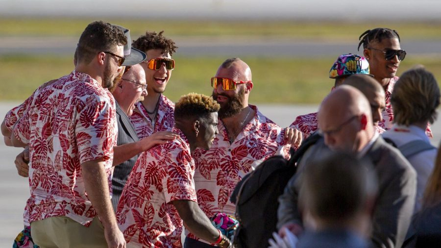 The Kansas City Chiefs arrive in Miami, Florida Jan. 26 for Super Bowl LIV against the Tennessee Titans Feb. 2.