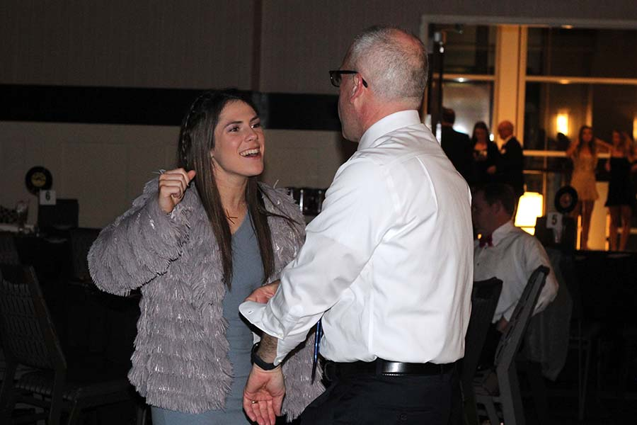 Junior Kennedy Ruark dances with her father during the annual Father Daughter dance Saturday, Feb. 9 at the Sheraton in Overland Park, KS.