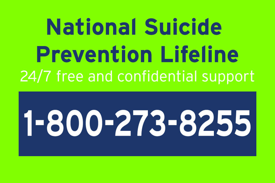 The National Suicide Prevention Lifeline is a free confidential resource to anyone in need of help and support or knows someone who is during any mental health crisis. The lifeline is open 24/7.