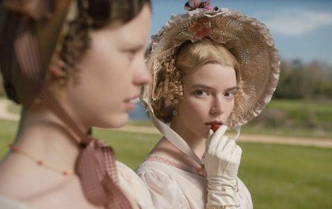 """Anya Taylor-Joy (right, with Mia Goth) as """"Emma."""""""