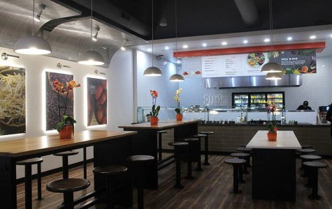 With locations at 505 W 75th St, Kansas City, MO and 11875 W 95th St, Overland Park, KS in addition to Corbin Park, BIBIBOP includes a simple deep brown and white theme with accents of orange.