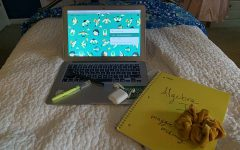 Report Maggie McKinney's virtual learning workspace was situated on her bed throughout the first week. McKinney always kept her laptop, her AirPods, a scrunchie, writing utensils and her notebooks close by so she wouldn't have to get up during class.