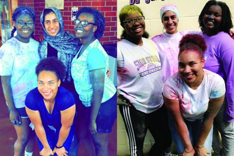 As I say goodbye to Sion, due to the closure of in-person classes for the remainder of the year, I reflect back on these past four years. Pictured is my friend group, seniors Maya Scott, Inaya Khan and Tehya Frederick, and I at the color fun event freshman and senior year.