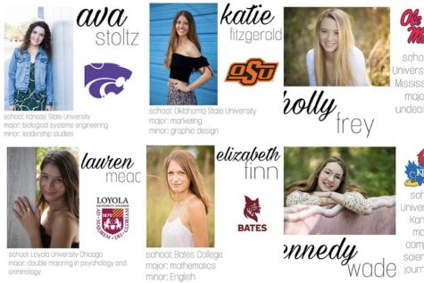 Displayed are the six most recent posts on the @sionseniors2020 Instagram. Featured are seniors Ava Stoltz, Katie Fitzgerald, Holly Frey, Lauren Mead, Elizabeth Finn and Kennedy Wade.