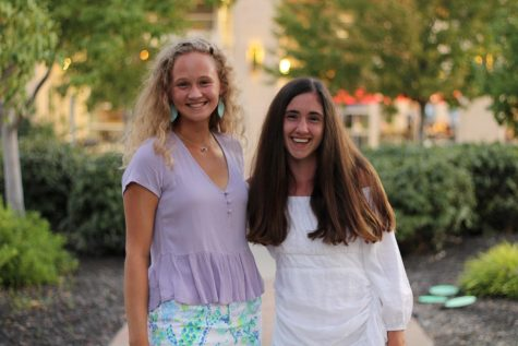 "Senior Olivia Overlease (left) and Grace Hill (right) go out to dinner at North Italia early Sept. ""Grace and I got together with four of our closest friends from Sion and it was a really fun night to get to spend with friends,"" Overlease said."